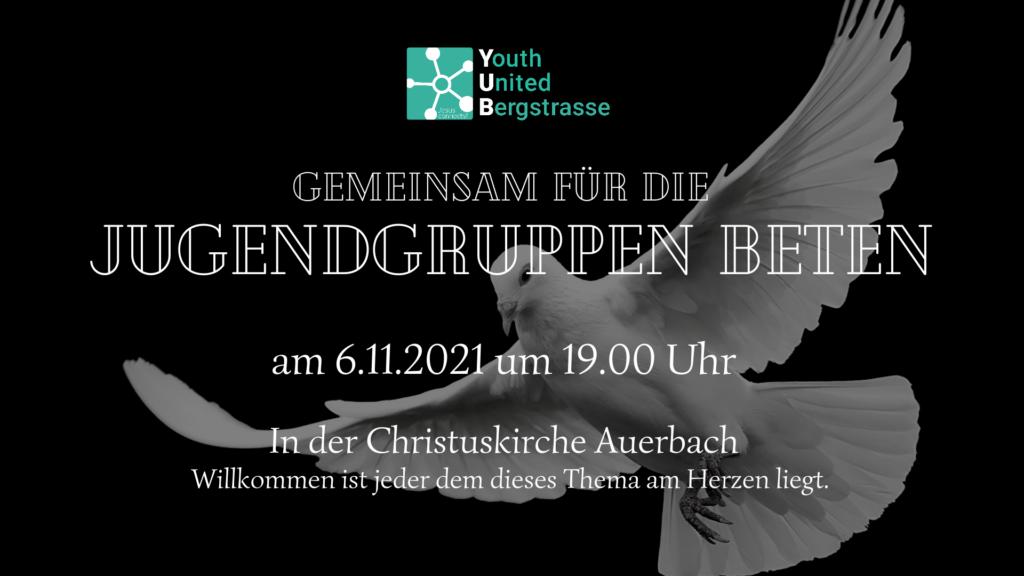 Flyer zum Gebet für die Jugendgruppen